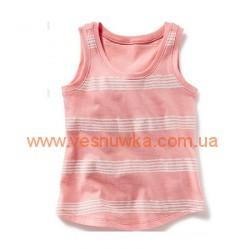 Майка розовая в полосочку OldNavy , , 535456, Old Navy, Рубашки и футболки