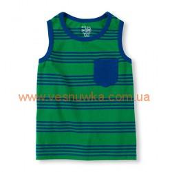 Майка в  зелено-синюю полоску Children's place, , 585810, Children Place, Рубашки и футболки