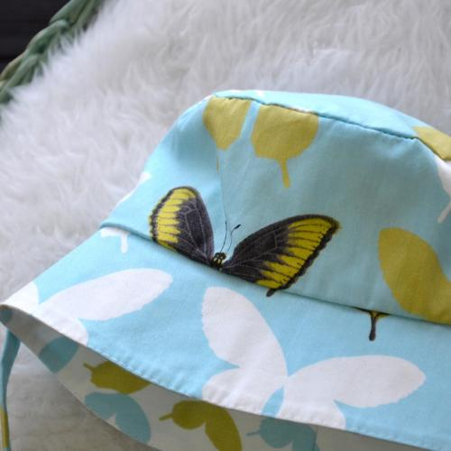"Панама детская  двустороняя ""Бабочки"" Plamka"