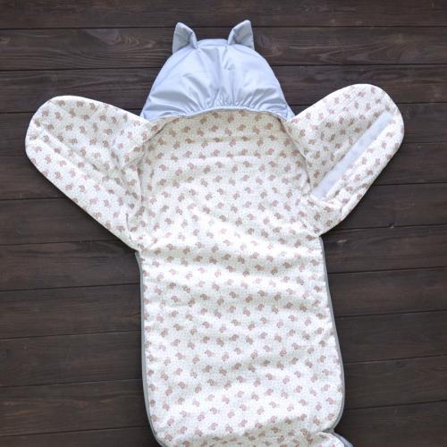 "Деми Конверт ""Little cat"" серый  15-5 мороза Plamka (Poland)"