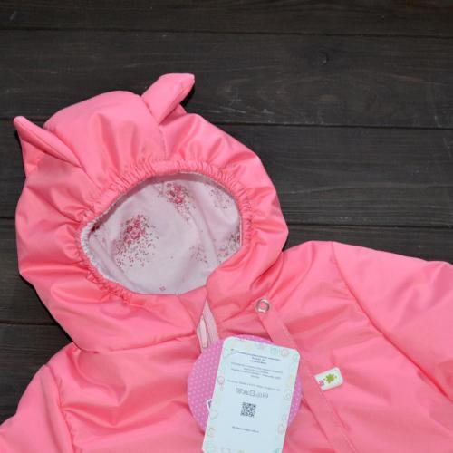 "Демисезонный комбинезон  ""LITTLE SWEET HEART"" розовый, от -5 до +15 Plamka (Poland)"