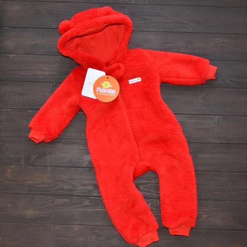 Человечек плюшевый «Мишутка» красный 12,18,24 м Plamka