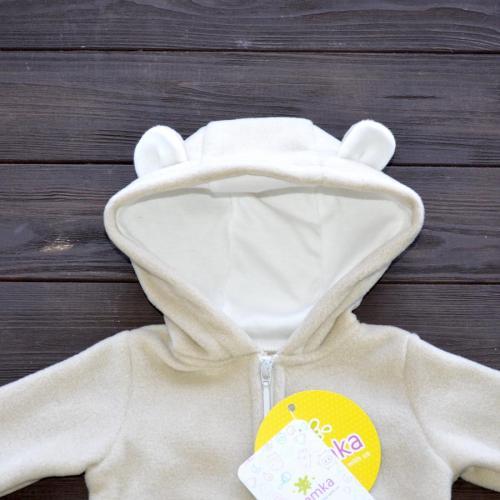 """Флисовый человечек  """"Bear"""" молочный (светло) NEW  Plamka (Poland)"""