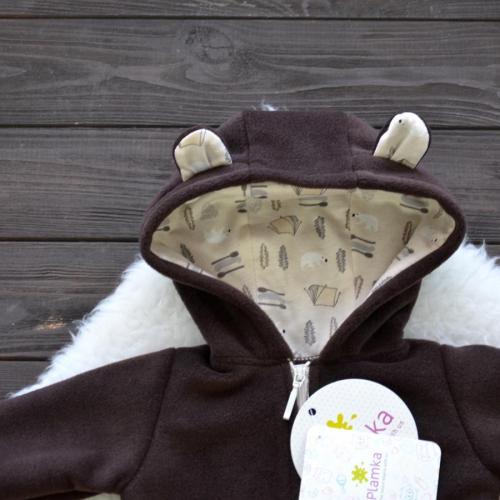 """Флисовый человечек  """"Bear"""" шоколадный  Plamka (Poland)"""