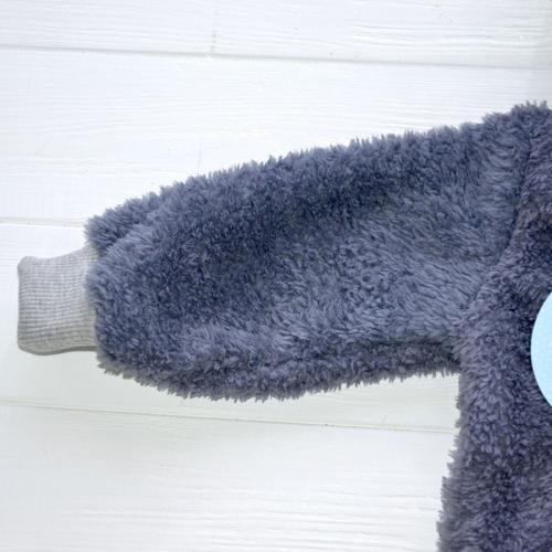Человечек плюшевый «Мишутка» серый 12,18,24 м Plamka