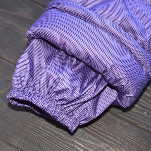 "Зимний комбинезон  ""SWEET HEART"" фиолетовый (точка) молния по центру, 12,18,24м, от 0 до -30 Plamka (Poland)"