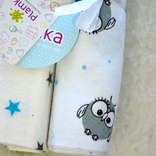 "Пеленки фланелевые Plamka 2в1 ""My little Owl"""