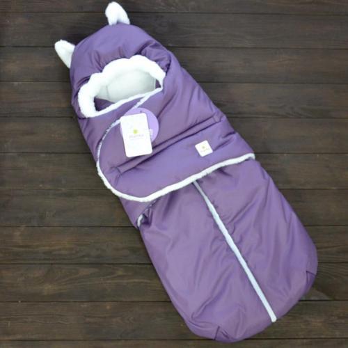 """Зимний Конверт """"Little Cat"""" фиолетовый, на сильные морозы Plamka (Poland)"""