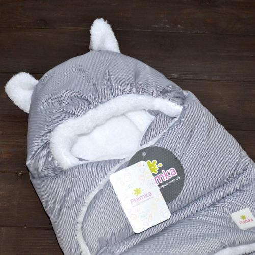 """Зимний Конверт """"Little Cat"""" серый (черная точка), на сильные морозы Plamka (Poland)"""