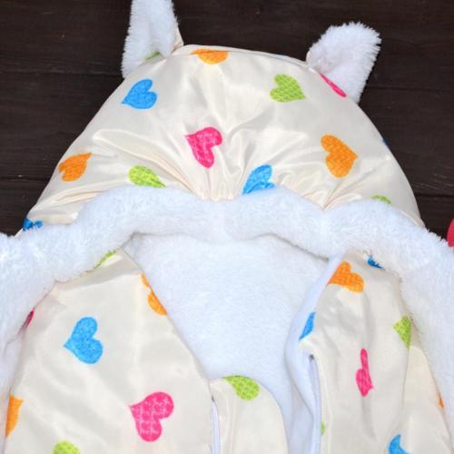 """Зимний Конверт """"Little Cat"""" сердечки, на сильные морозы Plamka (Poland)"""