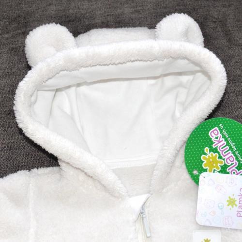 Курточка  плюшевая «Мишутка» молоко Plamka