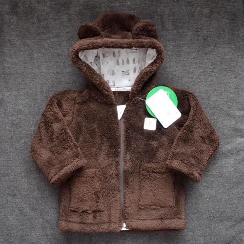 Курточка  плюшевая «Мишутка» шоколад Plamka