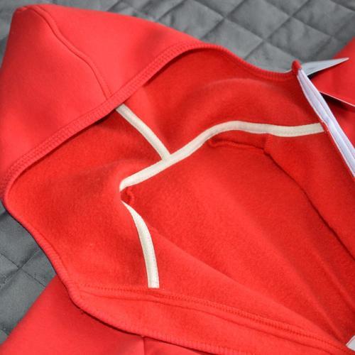 """Комбинезон на флисе с капюшоном  """"Jumpsuits"""" красный Plamka (Poland)"""