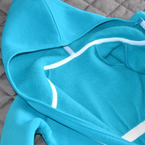 "Комбинезон на флисе (с 2-нней молнией) с капюшоном  ""Jumpsuits"" бирюза Plamka (Poland)"