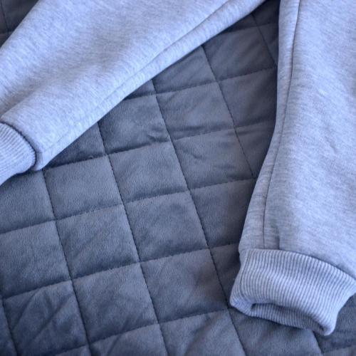 """Комбинезон на флисе (с 2-нней молнией) с капюшоном  """"Jumpsuits"""" серый Plamka (Poland)"""