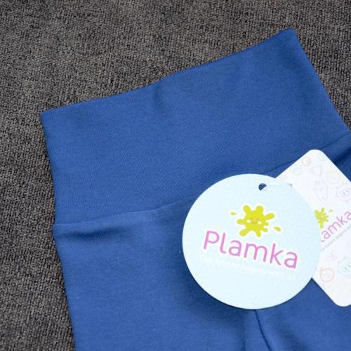 "Набор с 2 пар штанишек с мягкой резинкой ""Синие и меланж"" Plamka"