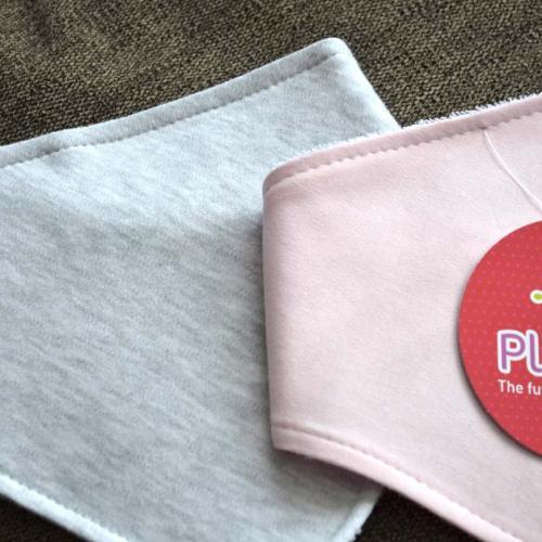 """Набор непромокаемых слюнявчиков  Plamka 2в1 """"Розовый и серый меланж"""""""