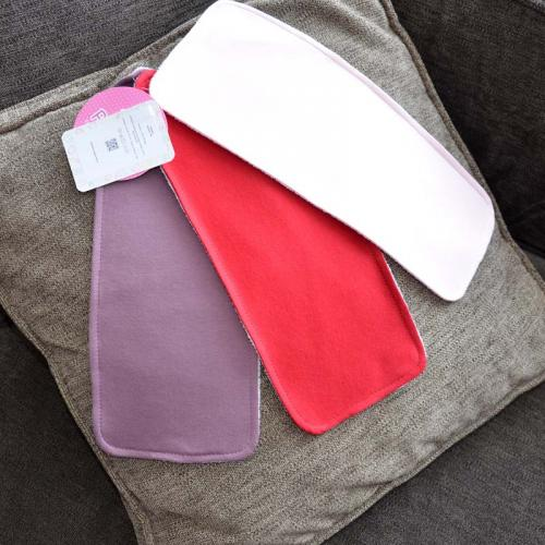 """Набор трикотажных непромокаемых полотенец  Plamka 3в1 """"Красный, чайная роза и розовый"""""""