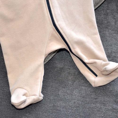 """Ромпер с капюшоном (без начеса) """"Jumpsuits"""" капучино  Plamka (Poland)"""