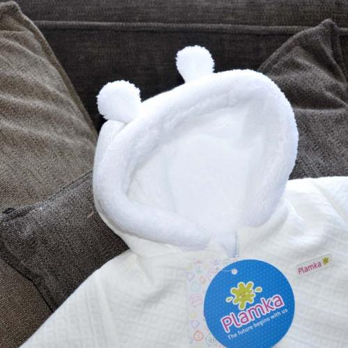 Стеганный двухслойный комбинезон на меху «Teddy Bear» молоко Plamka