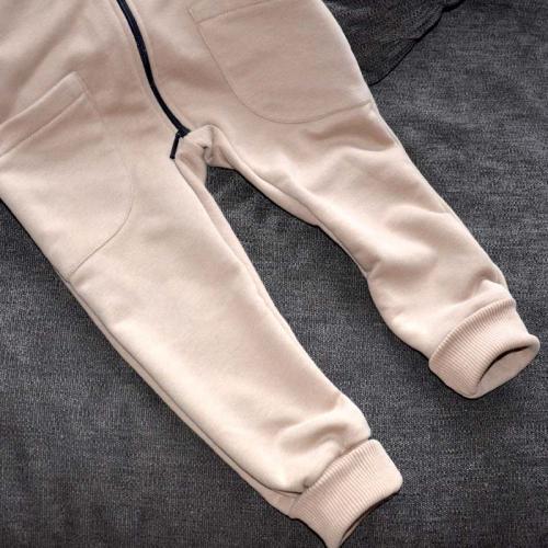 """Ромпер с капюшоном  с 2-нней молнией (без начеса) """"Jumpsuits"""" капучино Plamka (Poland)"""