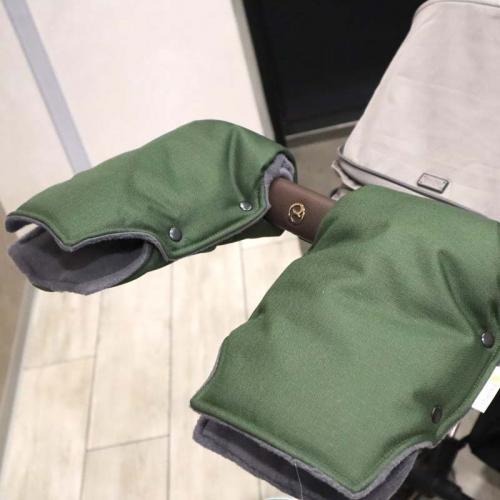 """Муфта NEW на коляску для рук """"Snow"""" хаки Plamka"""