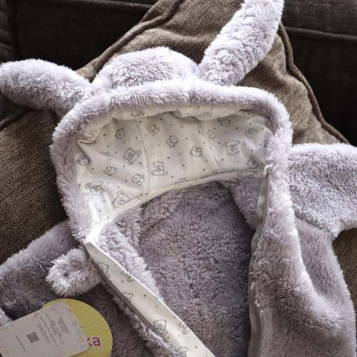 Человечек плюшевый «Зайка» светло-серый  3,6,9,12м Plamka