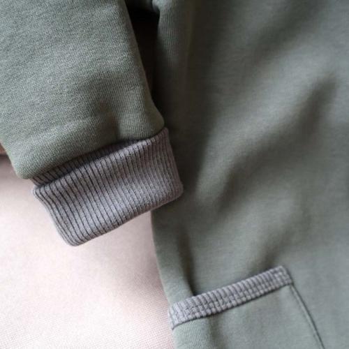 "Комбинезон на флисе с капюшоном 18,24м  ""Jumpsuits"" хаки Plamka (Poland)"
