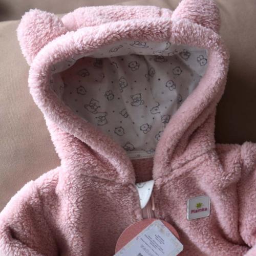 Курточка  плюшевая «Мишутка» пудра Plamka