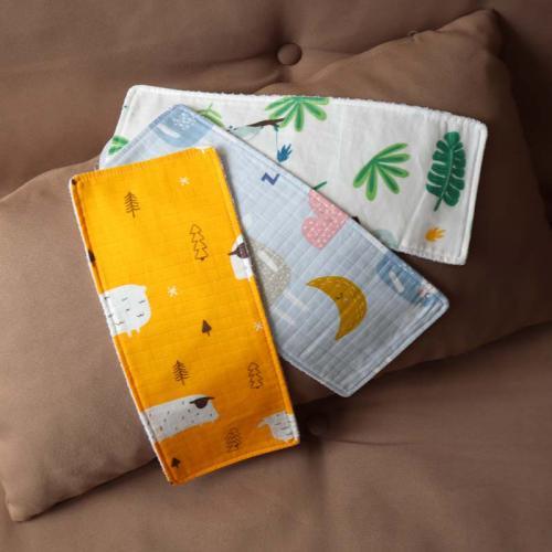 """Набор муслиновых непромокаемых полотенец  Plamka 3в1 """"Барашки"""""""