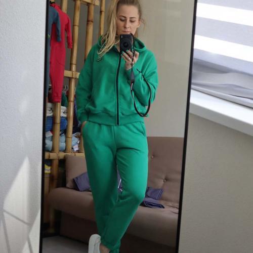 """Спортивный костюм на молнии """"Autumn"""" зеленый Plamka (Poland)"""