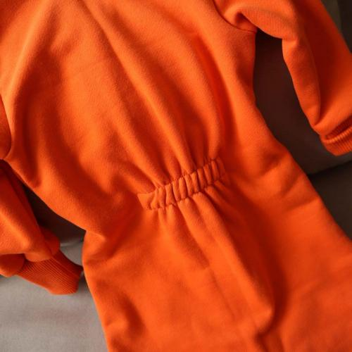"Ромпер с капюшоном 18,24м  ""Jumpsuits"" оранж  Plamka (Poland)"