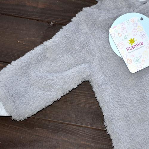 Человечек плюшевый «Мишутка» светло серый 12,18,24 м Plamka