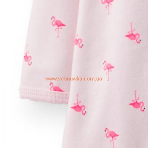 """Котоновый человечек слип Carters """"Розовый фламинго"""""""