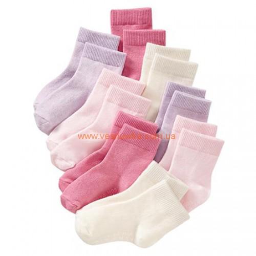 Набор из восьми пар носков  Old Navy (6-12 месяцев и 2-3 года)
