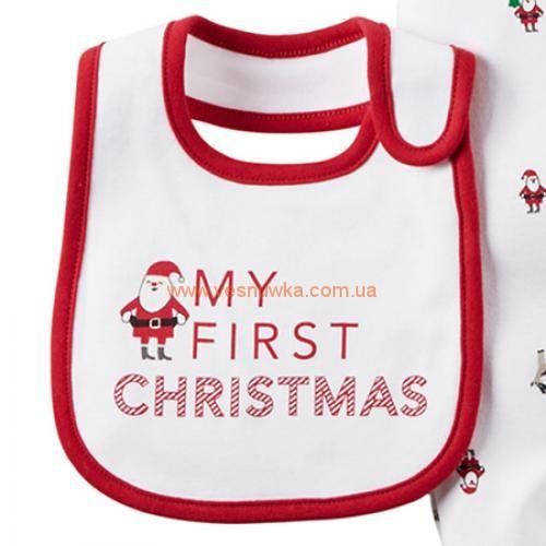 """Котоновый Набор 2в1 Carters  """"Мое первое Рождество"""""""