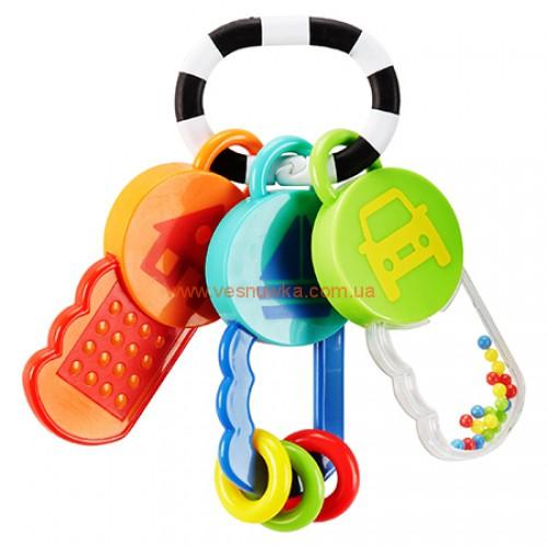 """Тактильная игрушка - погремушка - грызунок  """"Мои первые ключи"""" Carters"""