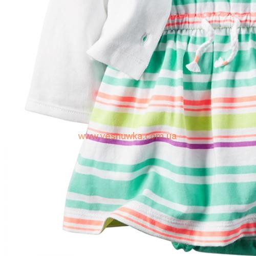 """Набор 2в1 платье с кардиганом  """"Голубые полосочки"""""""