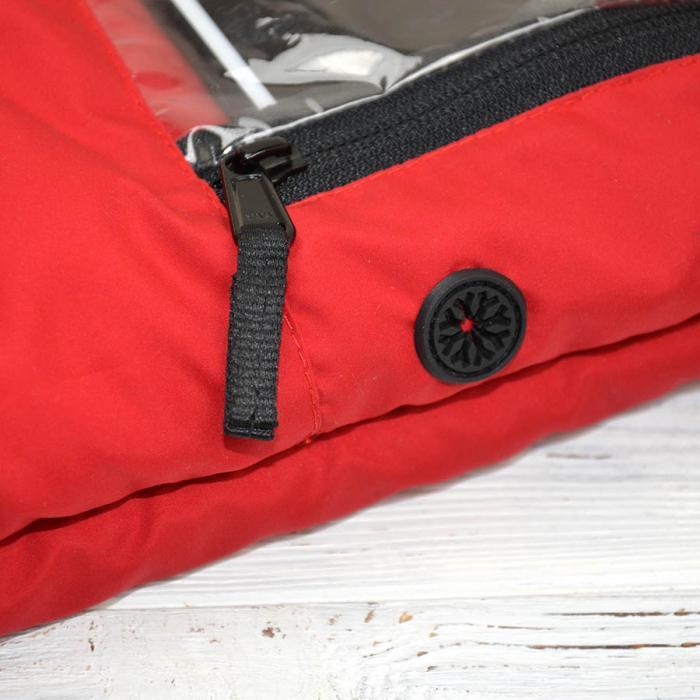 """Муфта на коляску, для рук и телефона """"Красная"""" Plamka"""
