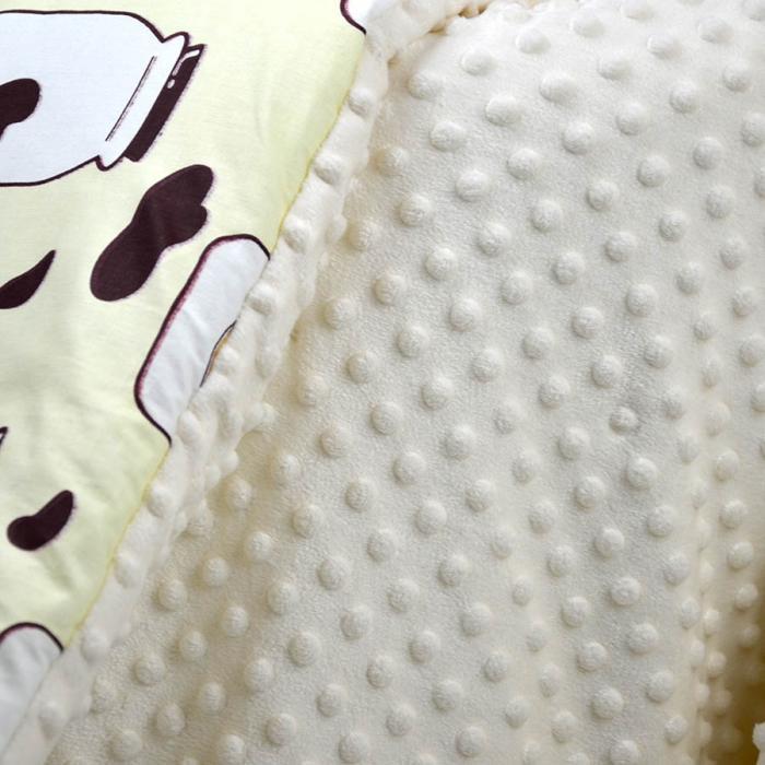 """Плед теплый """"Milk"""" на выписку/для прогулок молочный Plamka (Poland)"""