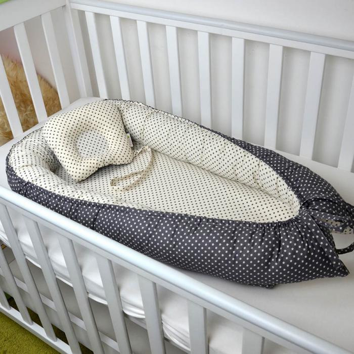 """Гнездышко для малыша Babynest  с ортопедической подушечкой """"Классик"""" Plamka (Poland)"""