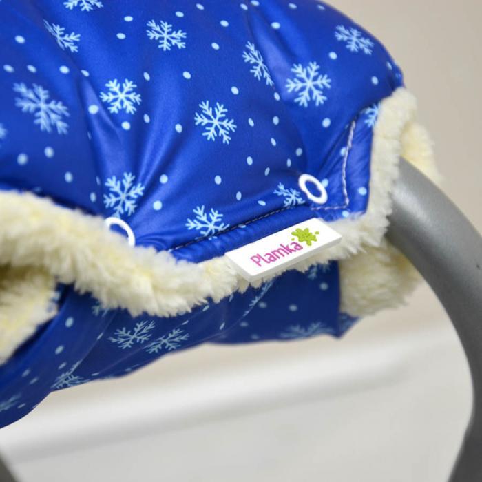 "Муфта на коляску для рук ""Снежинки"" мелкие Plamka"