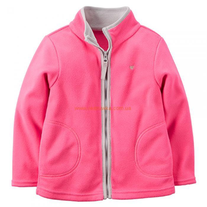 Кофта флисовая розово-серая  Carters