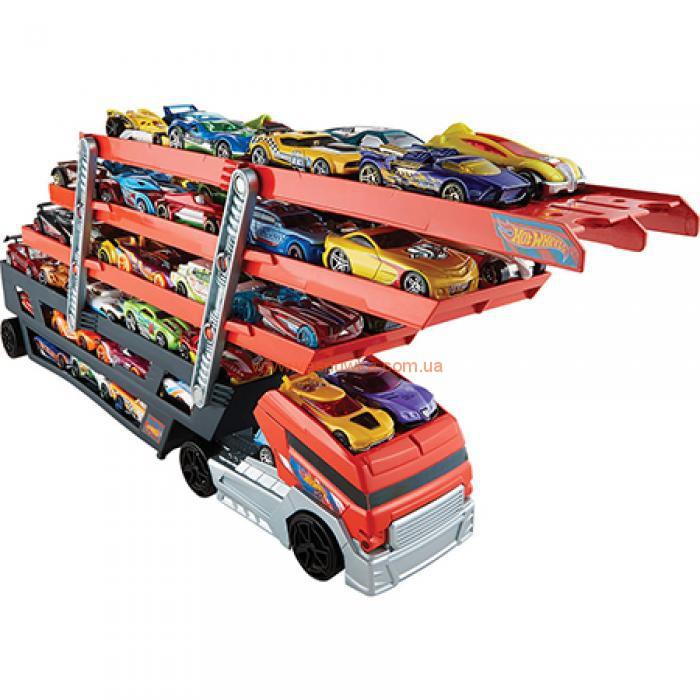 Большой Автовоз Hot Wheels Turbo Hauler  для 50 машинок