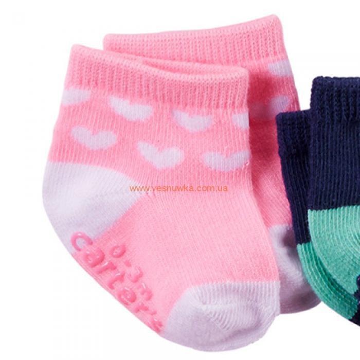 """Набор из шести пар носков  Carters """"Сердечка"""""""