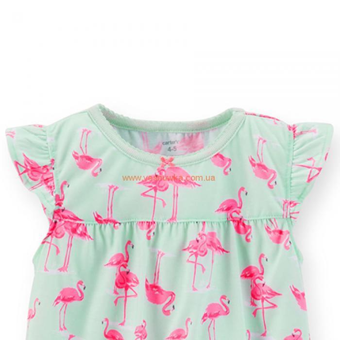 """Ночная рубашка """"Фламинго"""" Carters."""