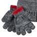 """Набор шапочка и рукавички 2в1 Carters """"Серенький с бубоном"""""""